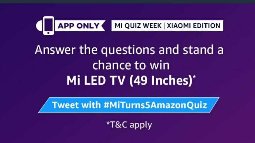 Amazon-Mi-Led-TV-Quiz-Answers