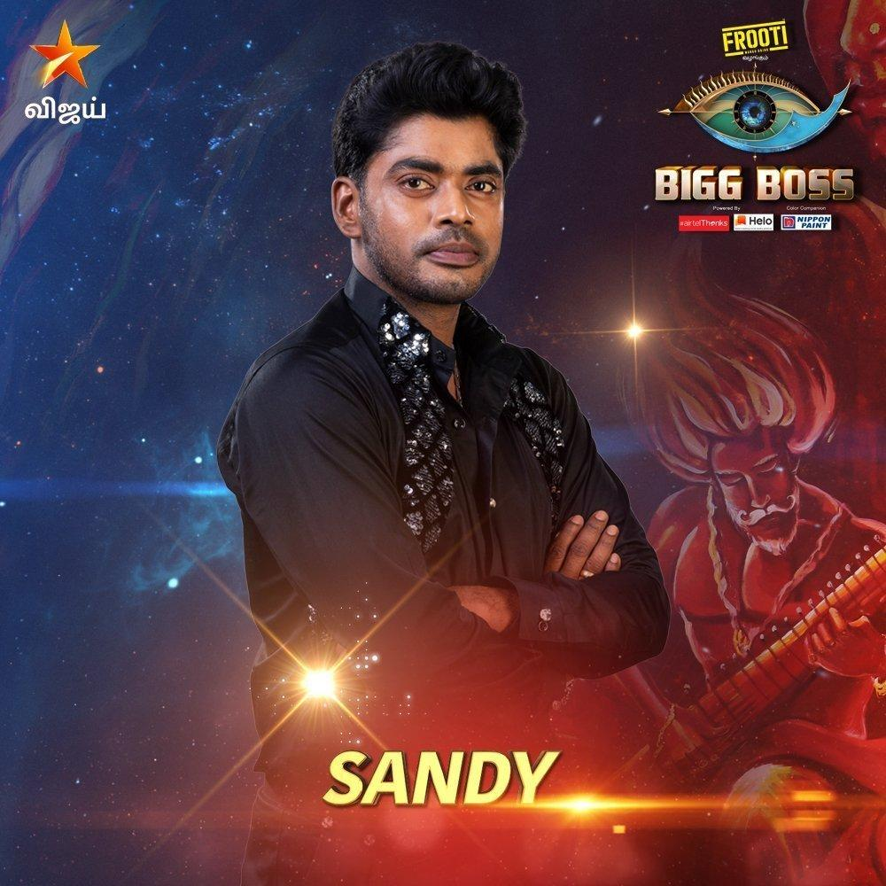 Sandy Master Bigg Boss Tamil Season 3