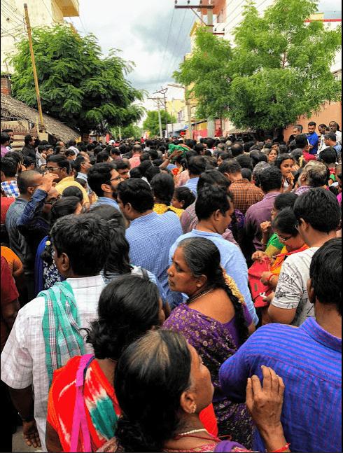 athi varadar 300 rs ticket waiting time