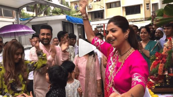 Shilpa Shetty Dance Video On Ganesh Visarjan