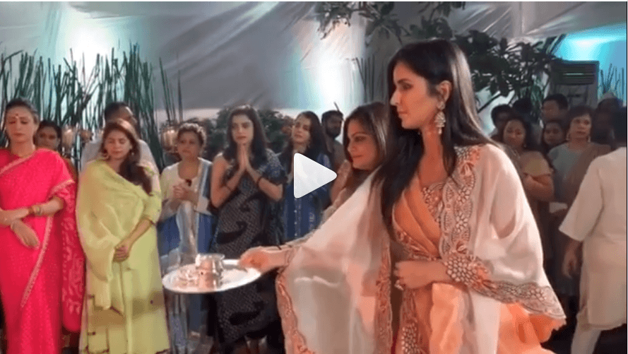 Katrina Kaif Ganesh Chaturthi Celebrations Video