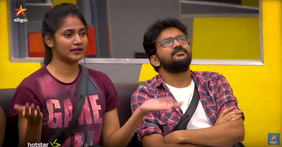 Bigg Boss 3 Tamil September 4 Day 73 Sherin calls Losliya