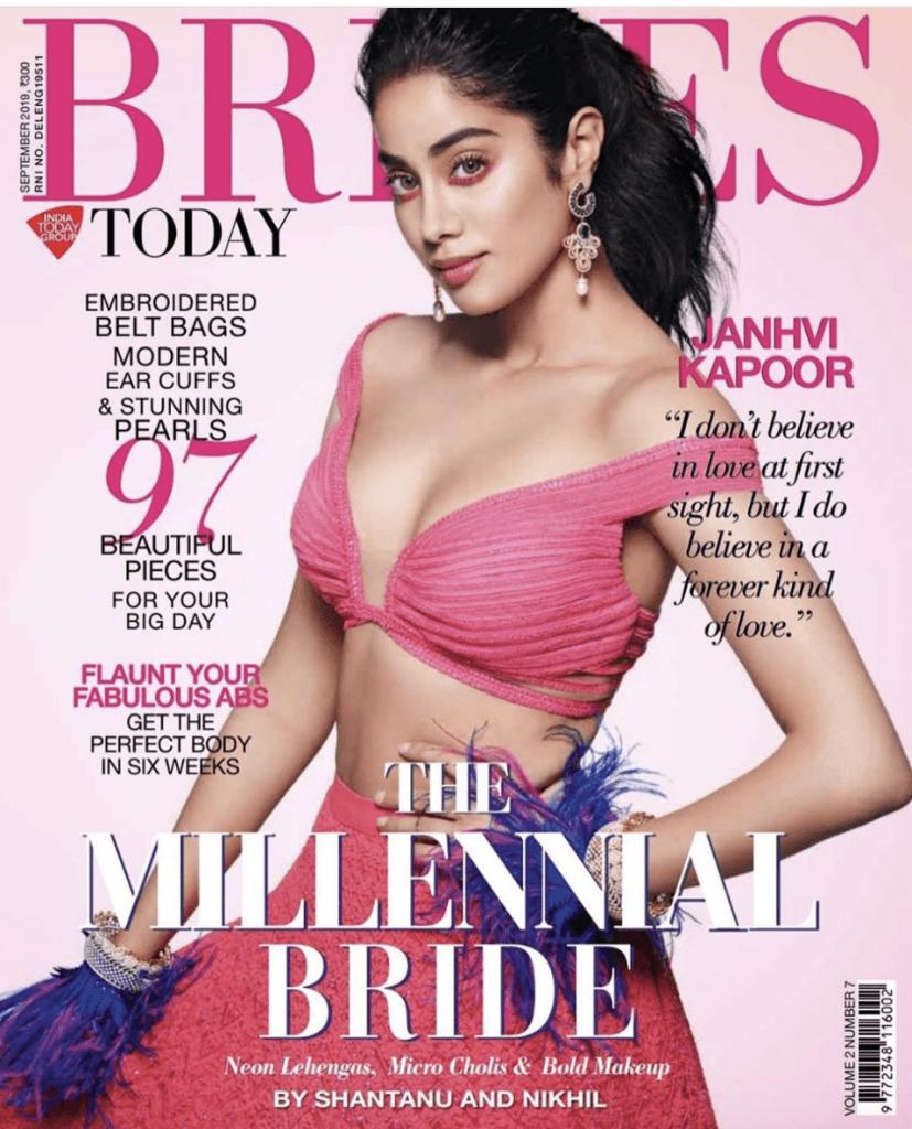 Janhvi Kapoor Brides Magazine Cover