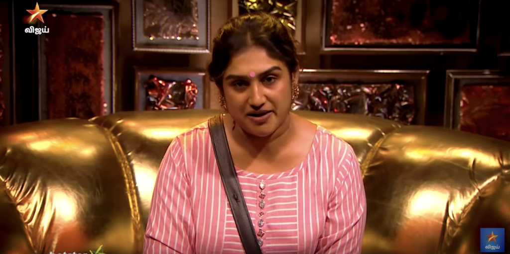 vanitha nominating tharshan bigg boss