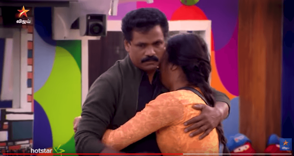 bigg boss 3 tamil losliya father enters bb house