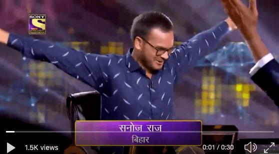 sanoj raj kbc 11 7 crore winner
