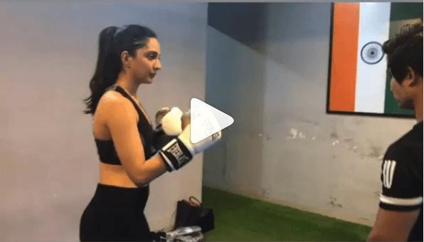 kiara advani boxing video