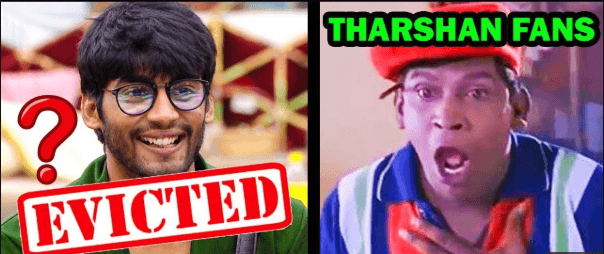 tharshan eviction fans unhappy
