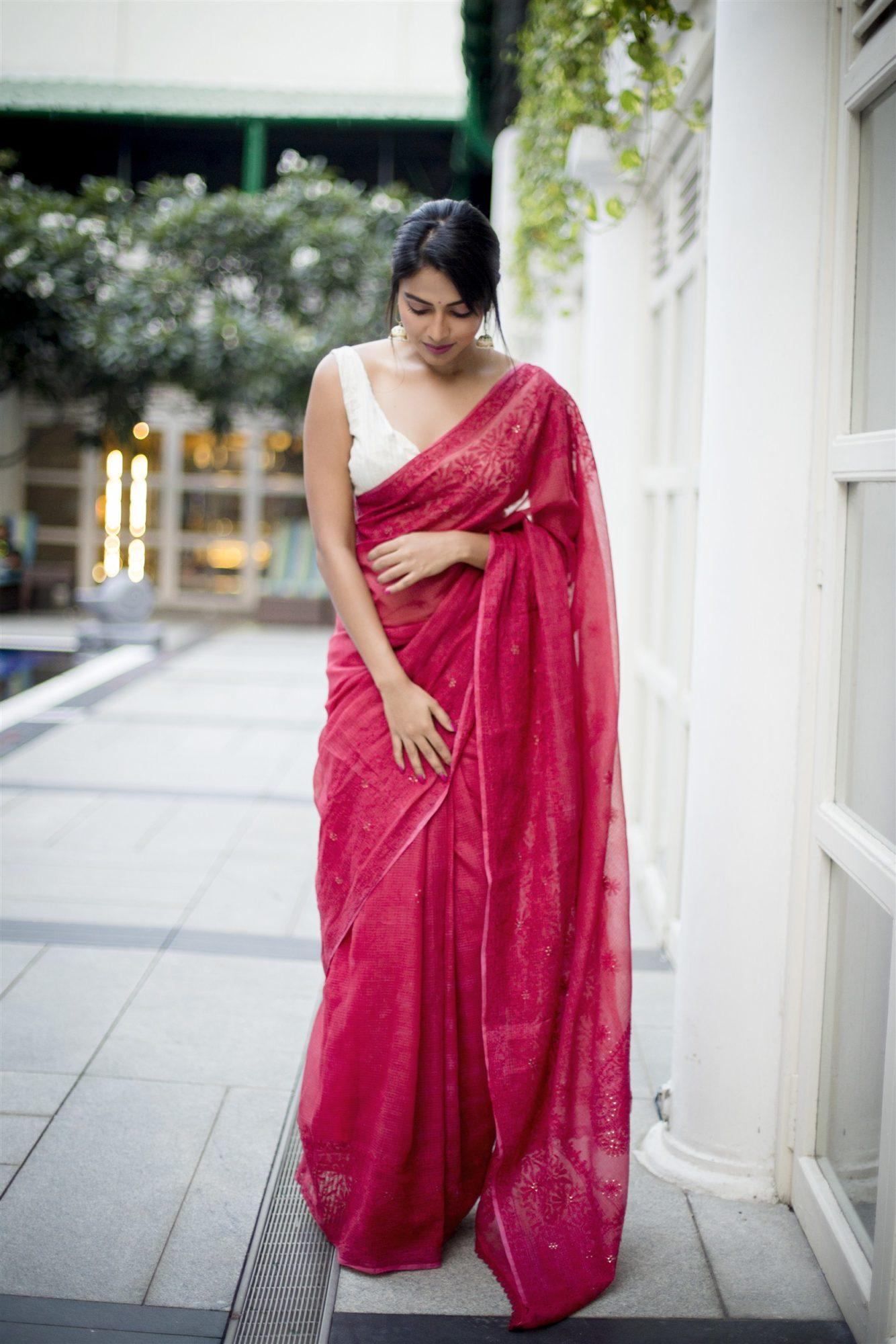 Amala Paul Sex Images amala paul sexy photoshoot in pink saree, going viral on