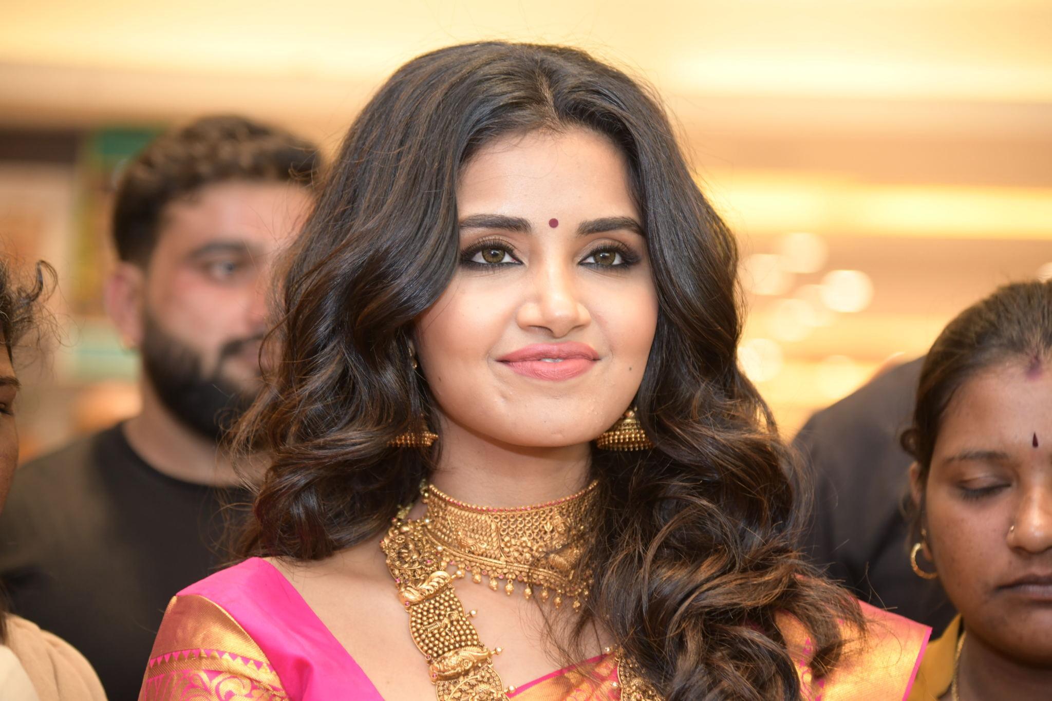 anupama parameswaran photos 2019 silk saree