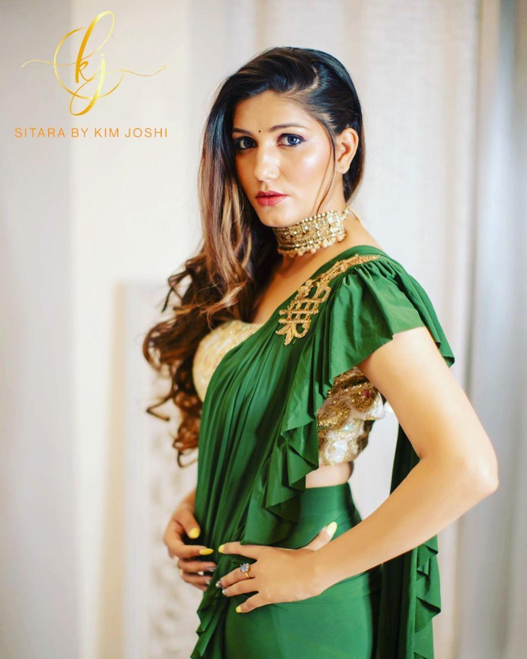 sapna choudhary hot saree pictures
