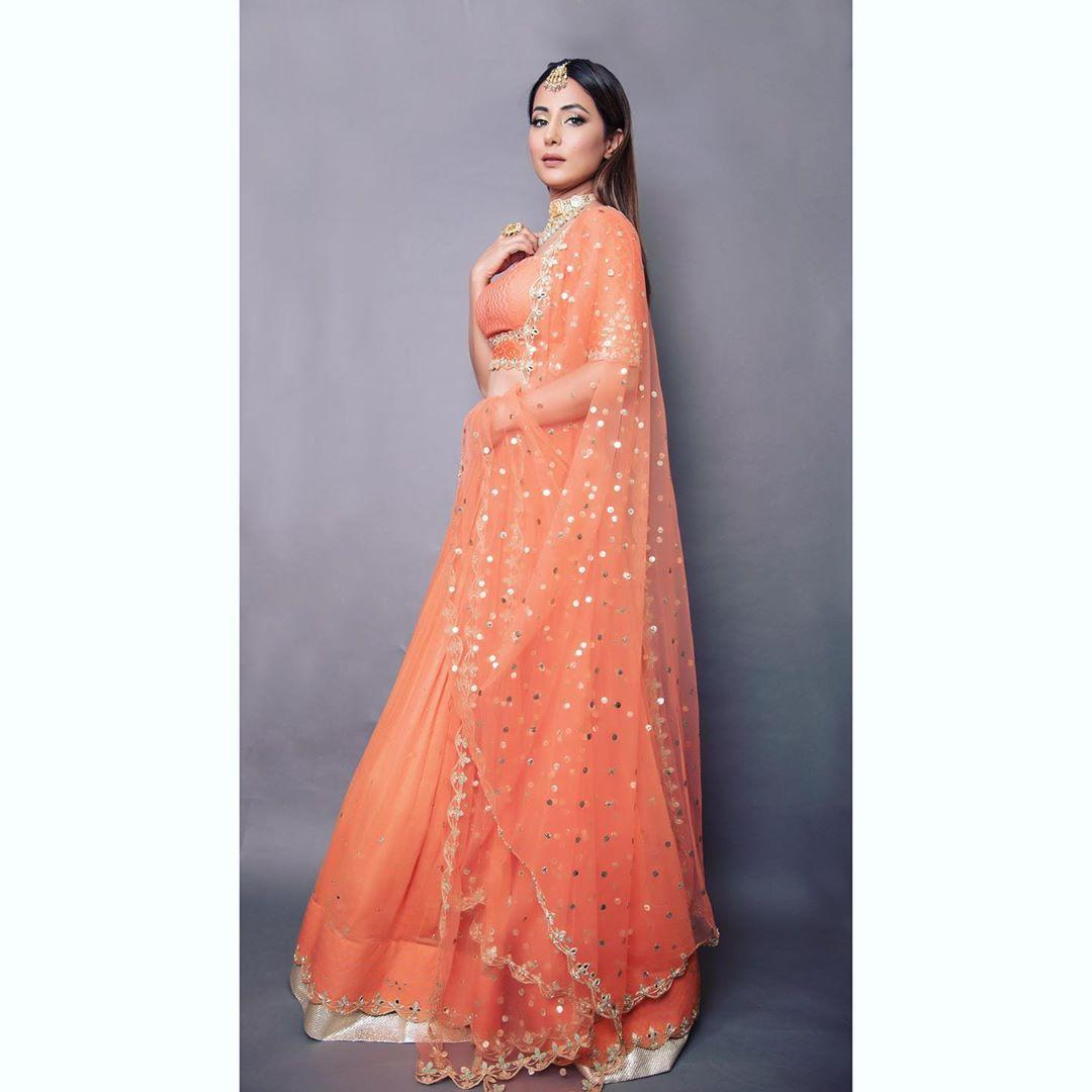 hina khan lehenga photoshoot