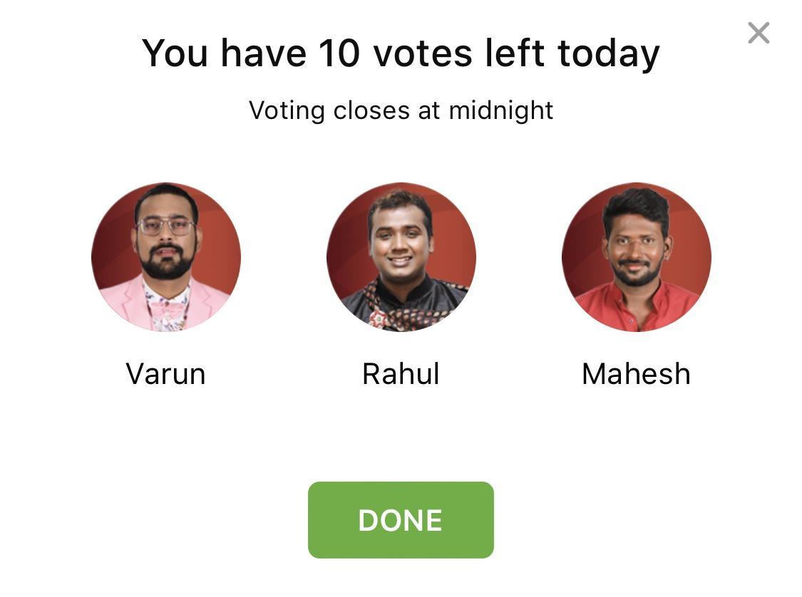 bigg boss telugu vote this week