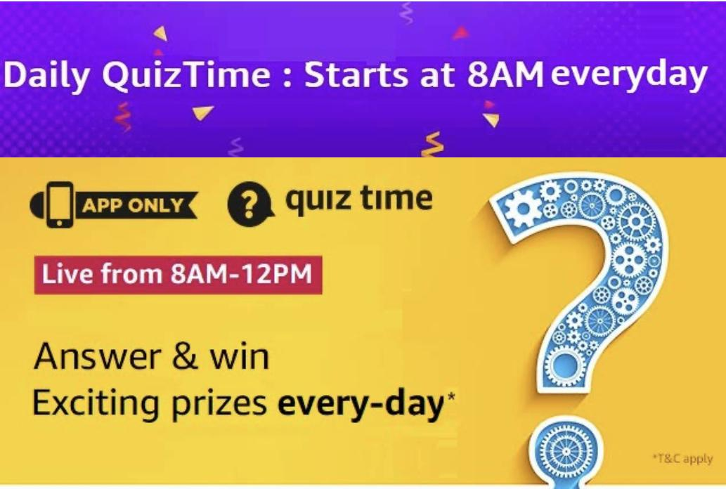 Amazon Daily Quiz Answers For 9th January 2020 Revealed Rs