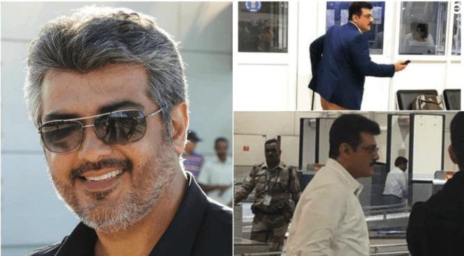 actor ajith kumar chennai airport 2019