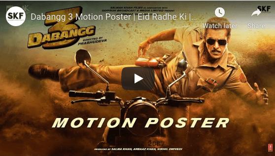 dabbang 3 motion poster