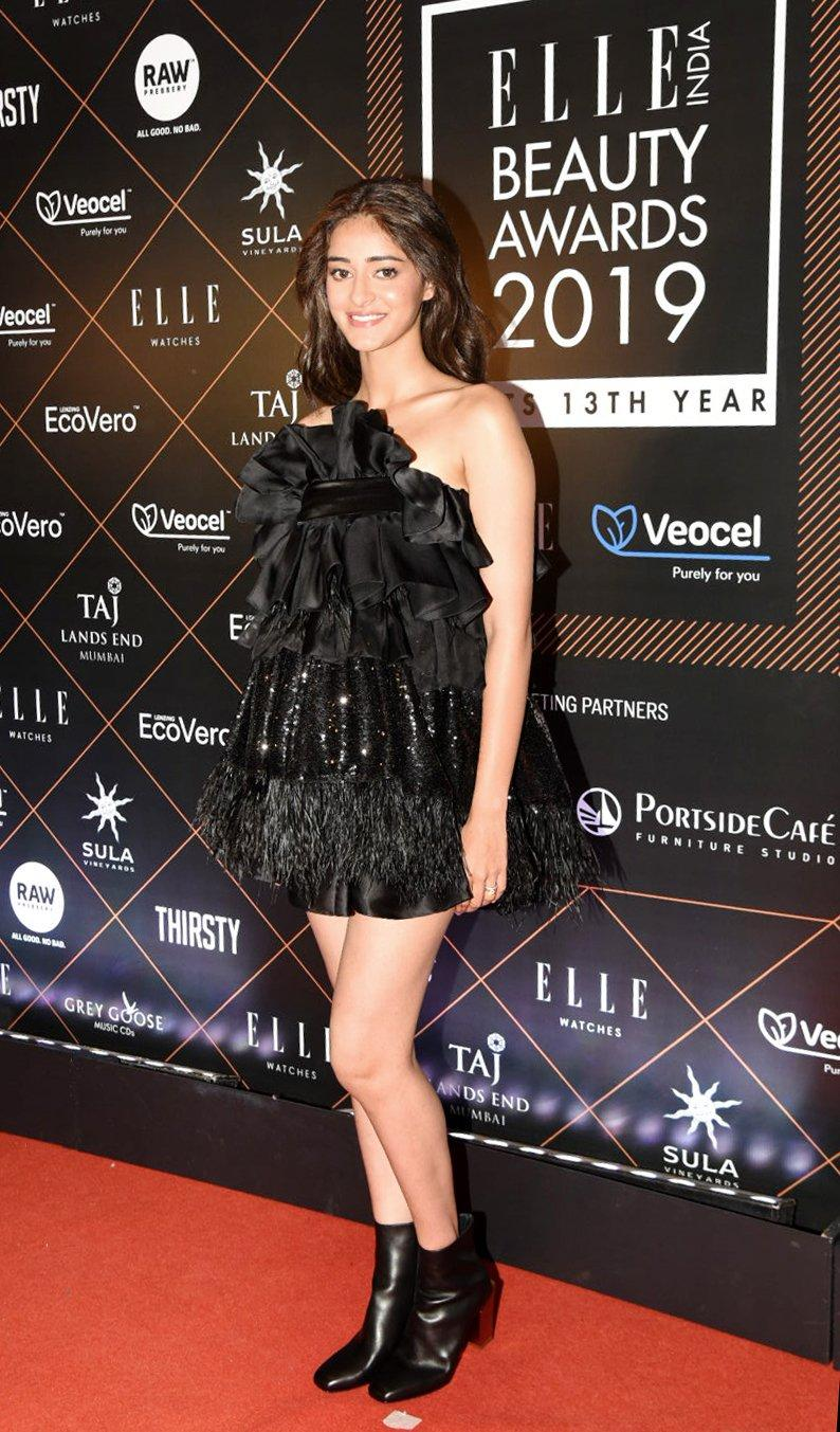ananya panday elle beauty awards 2019