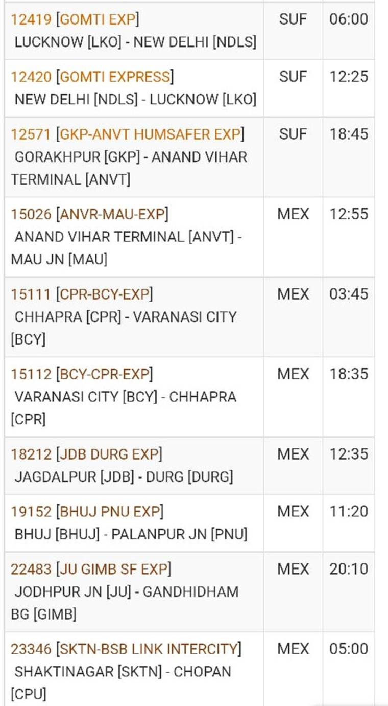 irctc cancelled trains 10-11-2019