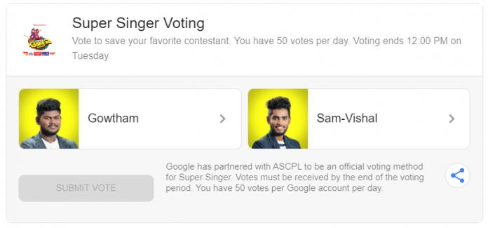 super-singer-7-voting-sam-vishal-gowtham