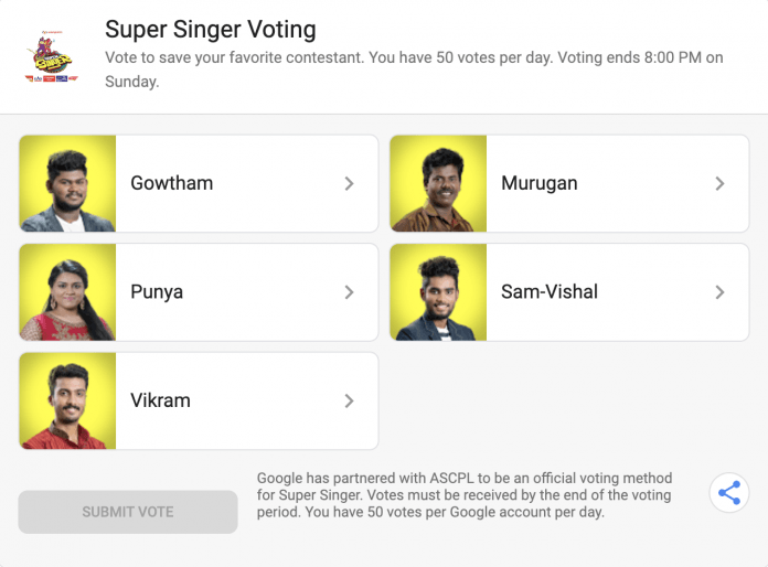 super singer 7 voting