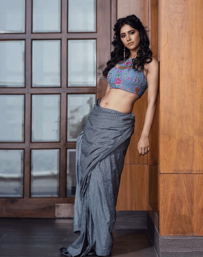 nabha natesh sexy saree photos