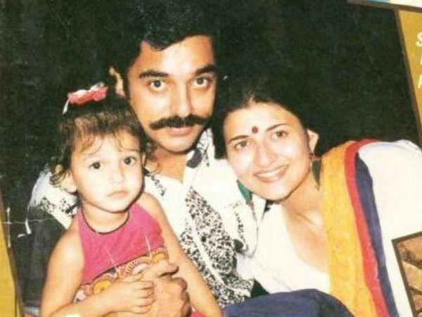 kamal haasan sarika divorce reaction shruti haasan