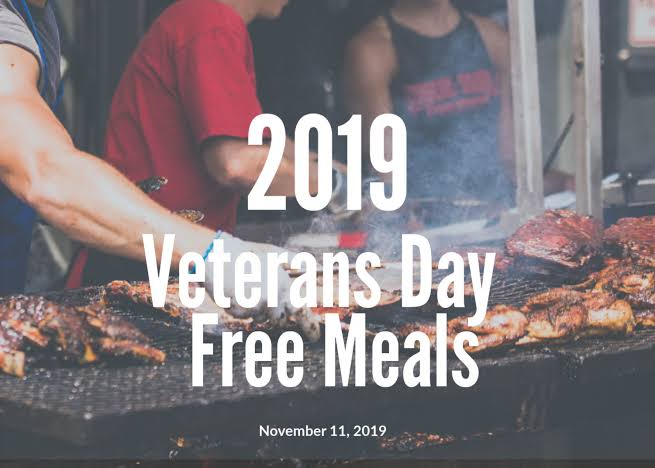 veterans day free meals 2019
