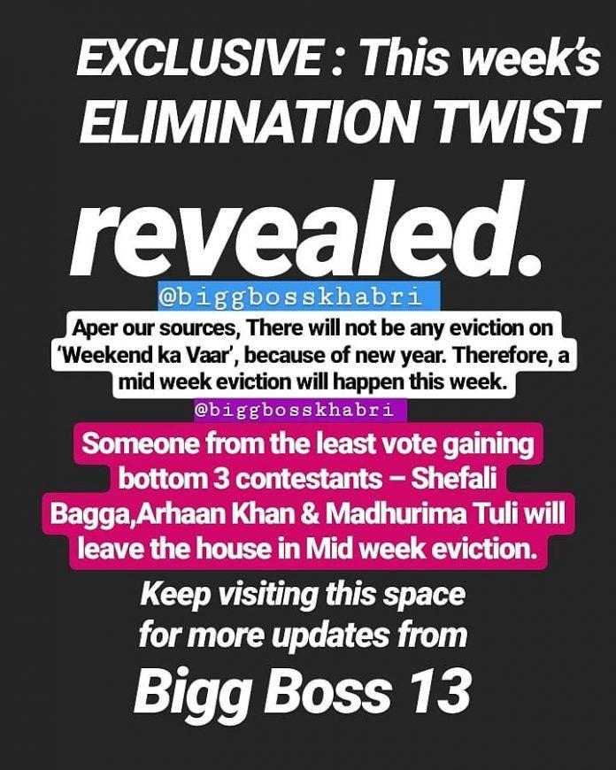 bigg boss 13 eviction