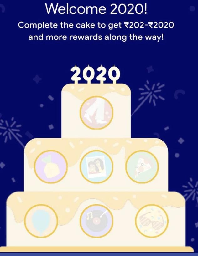 google pay 2020 cake offer