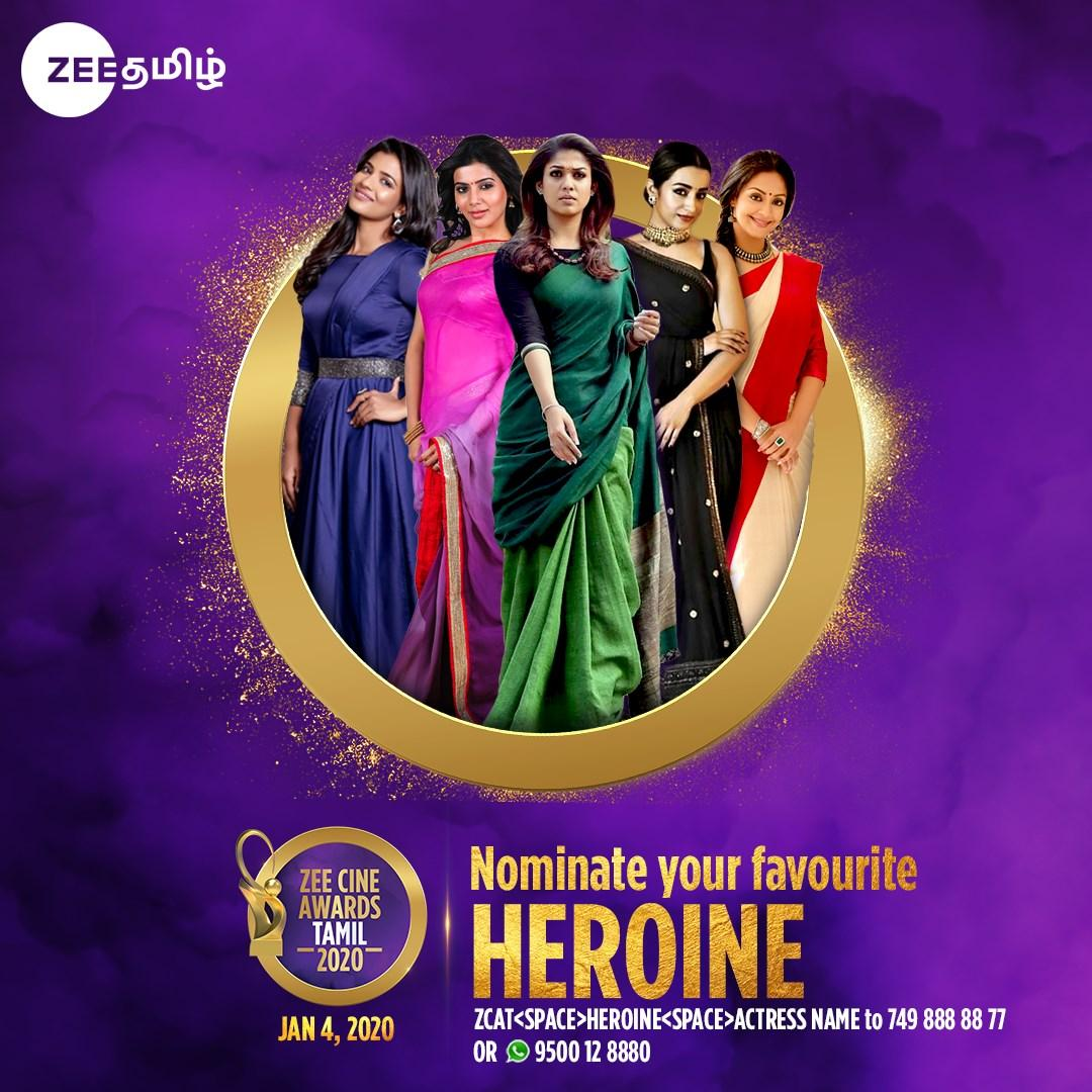 Who Won Best Actress 2020.Zee Cine Awards Tamil 2020 Prediction Poll Vote Who Will