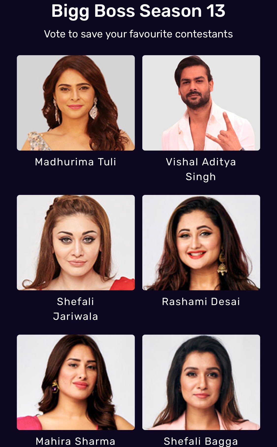 Bigg Boss 13 Eliminations Nominations Vote Online