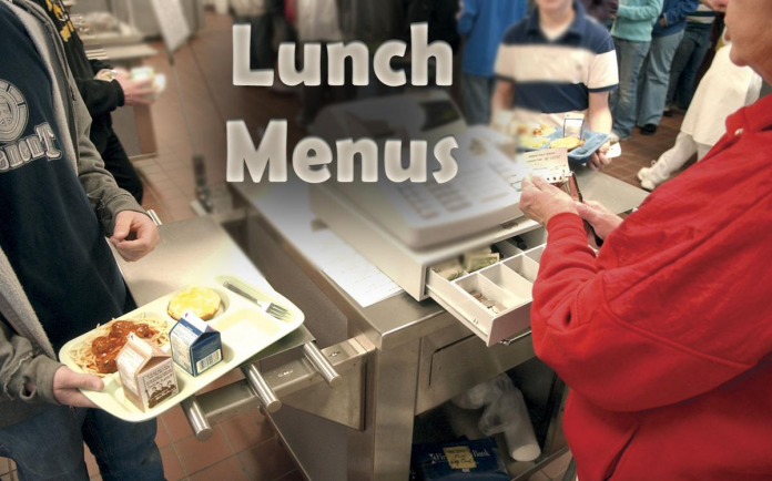 lunch menu 2020