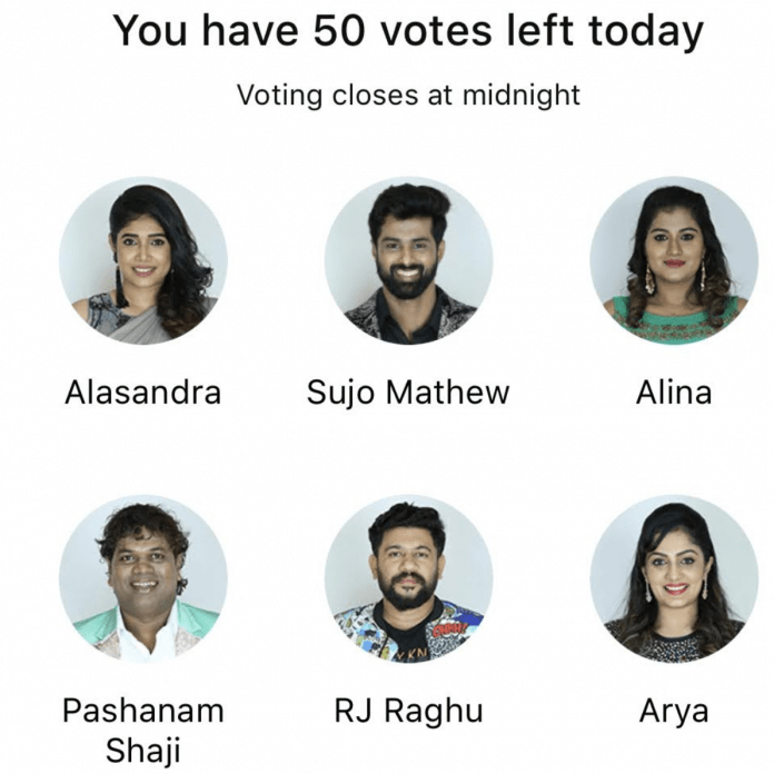 bigg boss malayalam 2 week 11 voting
