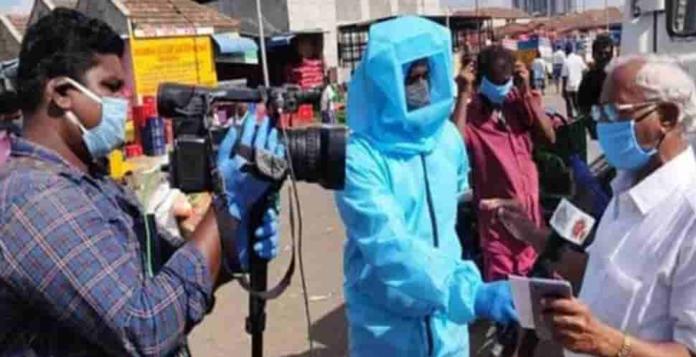 Sun Tv reporters gets Coronavirus Safety dress