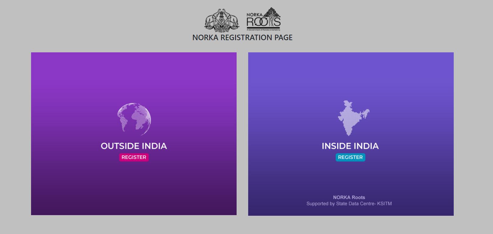 non resident keralites website register online