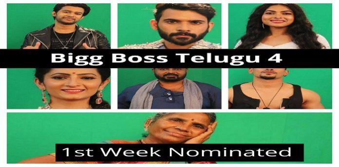 Bigg Boss Telugu 4 First Week Elimination Nomination