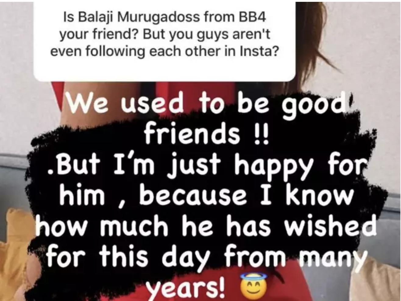 Balaji Murugadoss Yashika Relationship