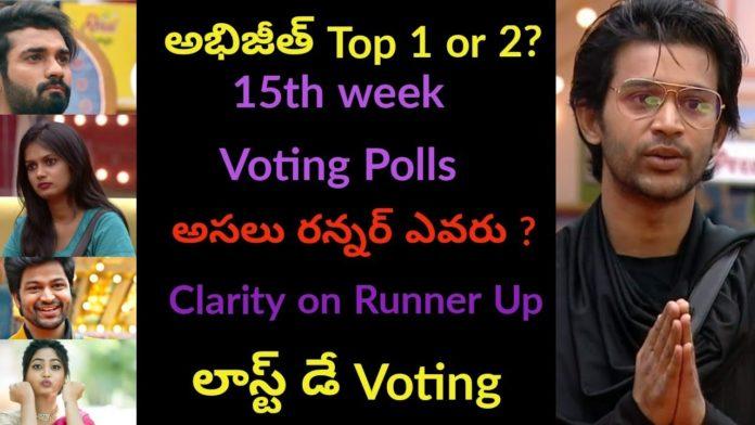 Bigg Boss Telugu Finale voting resultss