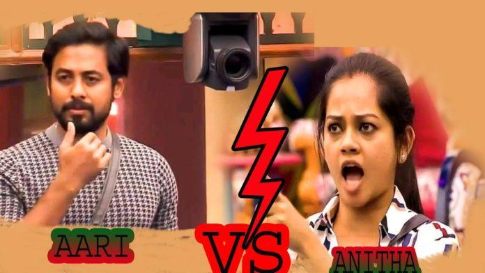 Bigg Boss eviction Anitha vs Aari
