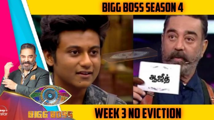 Bigg boss Tamil 4 elimination Aajeedh