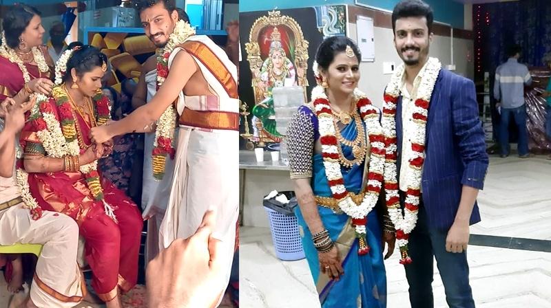 Super Singer Vikram Marriage photos