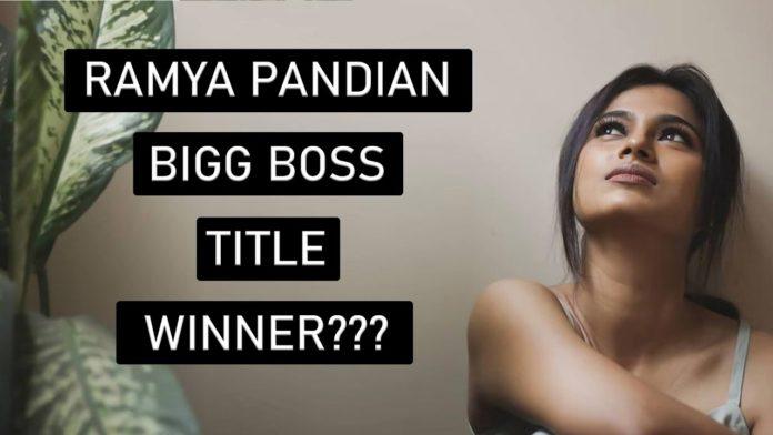 ramya pandian bigg boss tamil 4 winner
