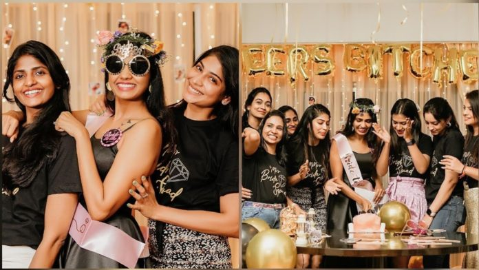 Niranjani Ahathian bachelor party