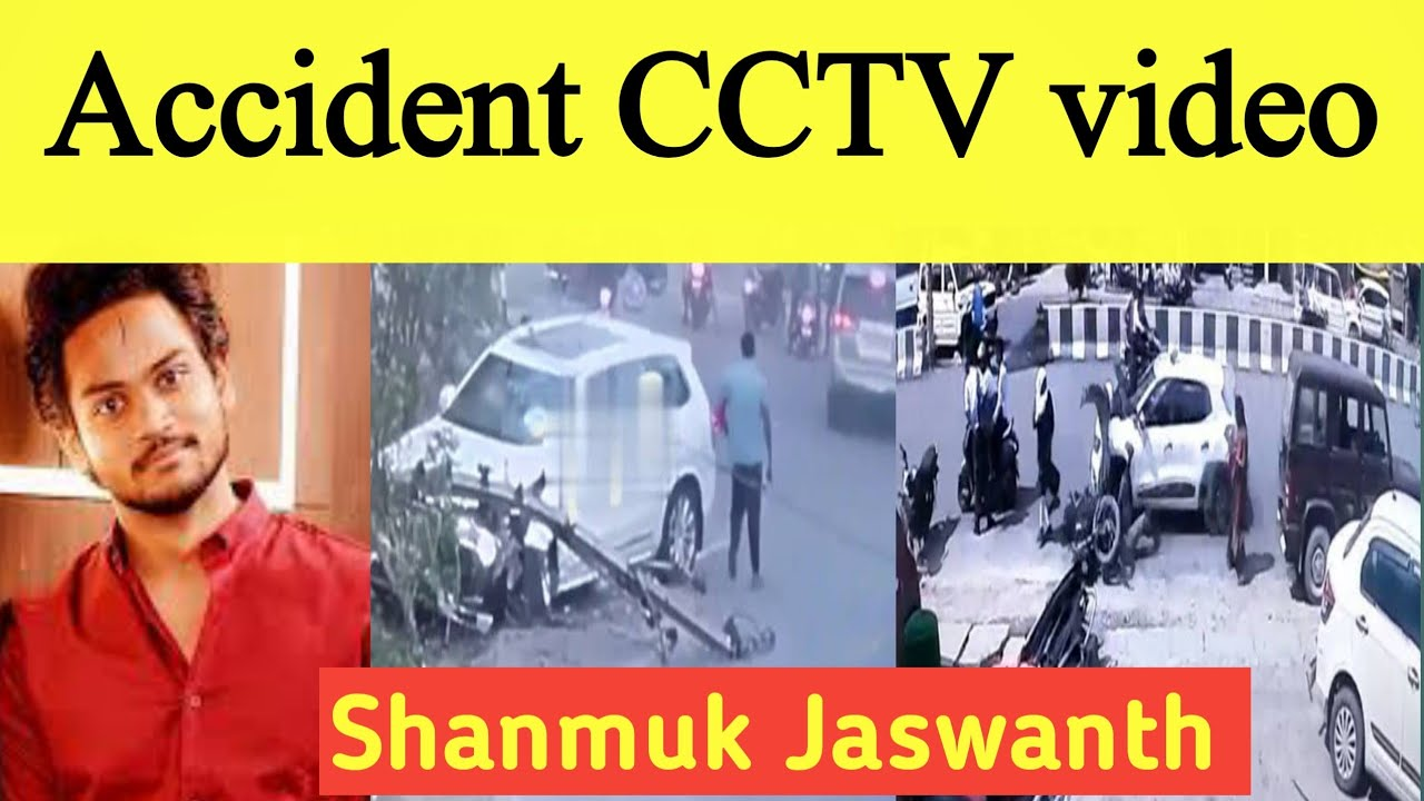 Shanmukj Jaswanth Accident CCTV footage