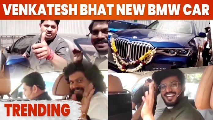 Venkatesh Bhat BMW car