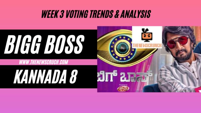 bigg boss kannada 8 vote results week 3
