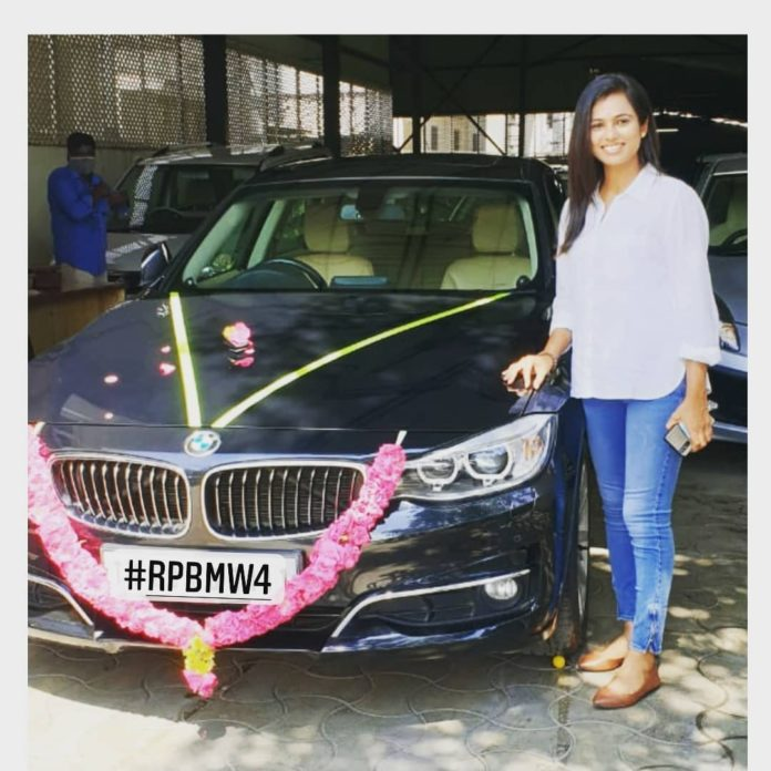 Ramya Pandian BMW Car