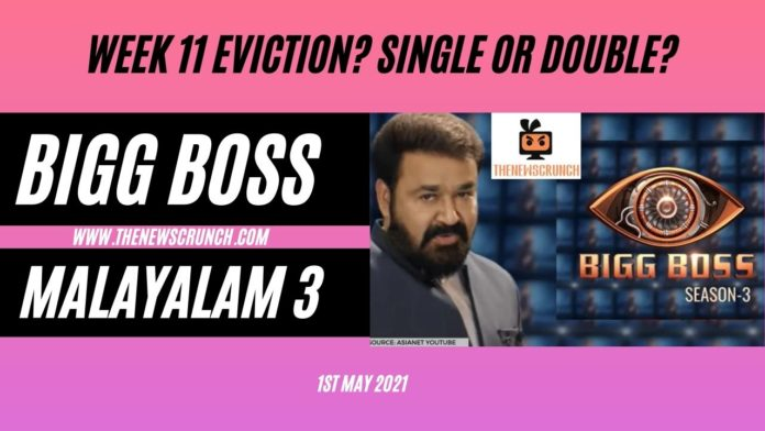 bigg boss malayalam 3 week 11 eviction voting