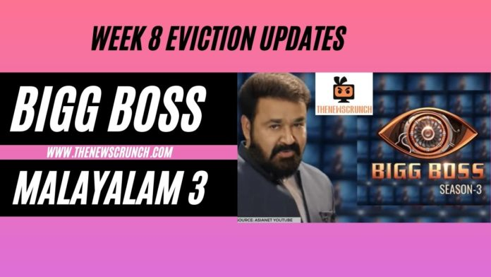 bigg boss malayalam 3 week 8 elimination