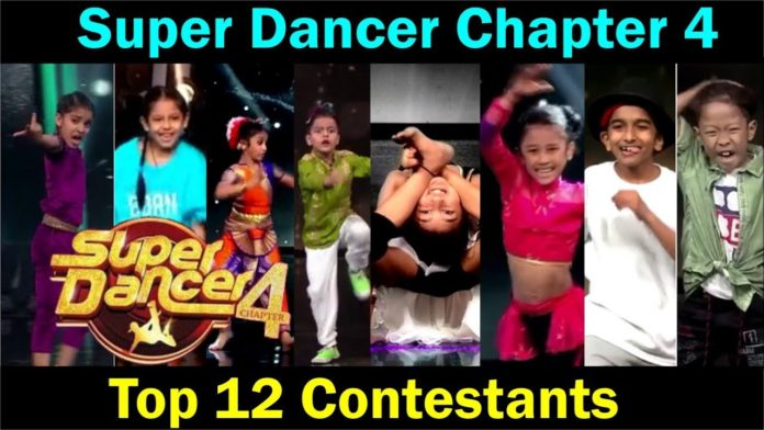 super dancer chapter 4 top 12 contestants list super gurus